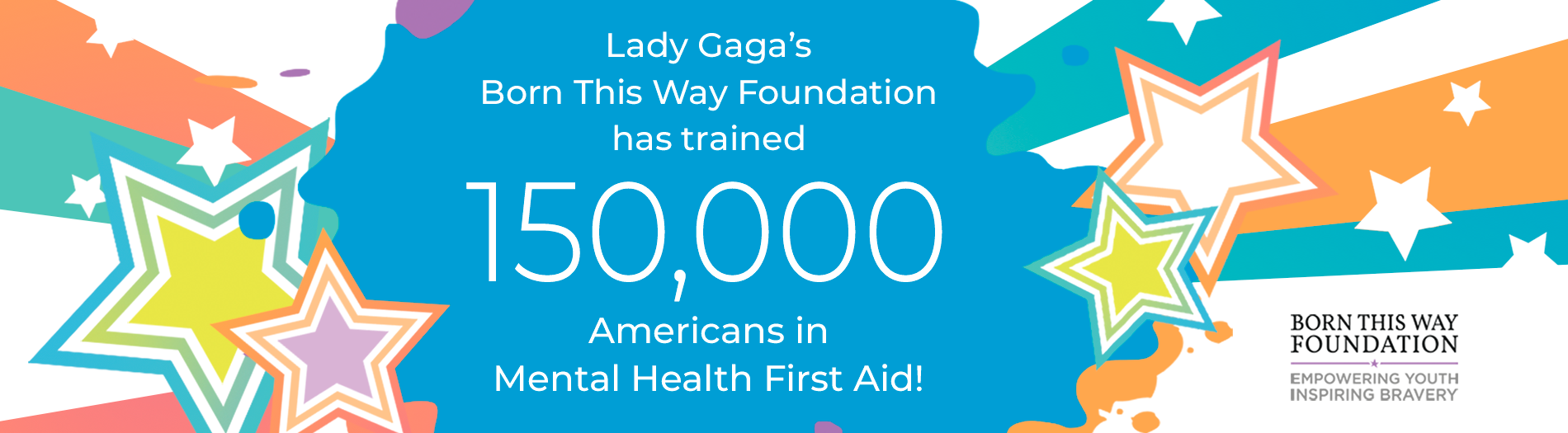 Mental health first aid thank you born this way foundation for training 150000 people in mental health first aid xflitez Gallery