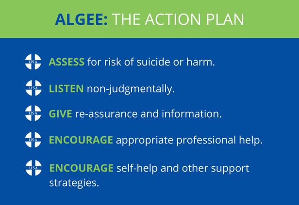 Algee In Action Helping A Friend In Need Mental Health First Aid