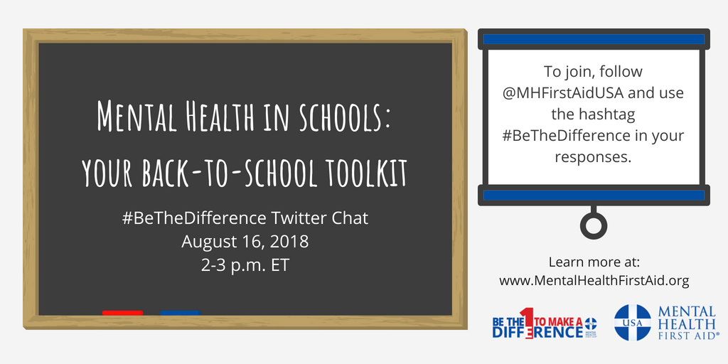 Bethedifference Mental Health Twitter Chat Mental Health First Aid