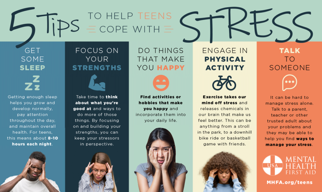 Five Tips to Help Teens Cope with Stress - Mental Health ...